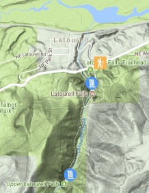 Friends of the Gorge trail map