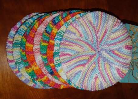 two more knitted tortillas