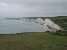 Seven Sisters chalk cliffs to the south