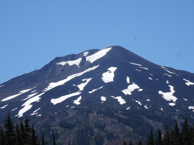 Zoom in to Mt Bachelor crater