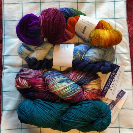 New yarn, Rose City Virtual Yarn Crawl!