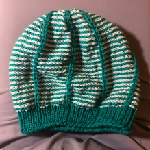 Straight Up Reversible Striped Hat by Nicole Nehrig made from Knit Picks Wool of the Andes Superwash